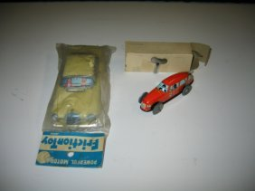 2 JAPAN TIN FRICTION CARS IN PACKING