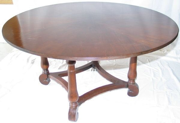 221 Ethan Allen 60 Round Dining Table W Six Chairs Lot 221