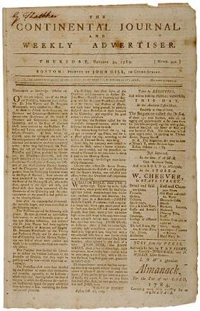 305 1783 newspaper end of the revolutionary war lot 305 for Revolutionary war newspaper template