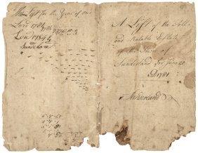1781 Ethan Allen Autograph Document Signed