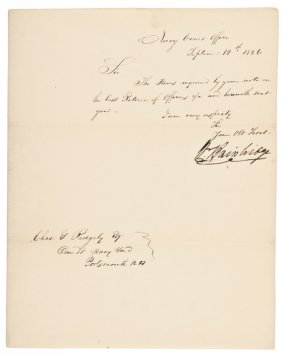 1826 Naval Letter Signed By William Bainbridge