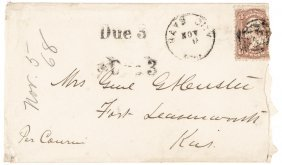 George Armstrong Custer Autographed Envelope