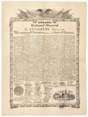 Declaration Of Independence Centennial Memorial