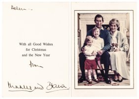 Diana, Princess Of Wales Autograph Card & Photo