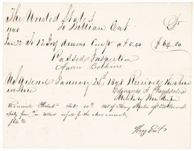 1848 Military Drum Order Signed By William Ent