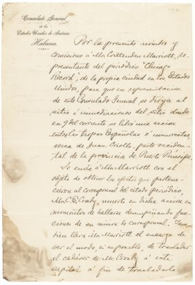 Civil War General Fitzhugh Lee Signed Document