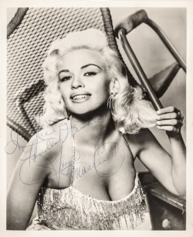 Jayne Mansfield Autograph Photograph Signed