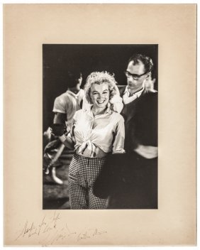 Photo Signed Marilyn Monroe & Arthur Miller