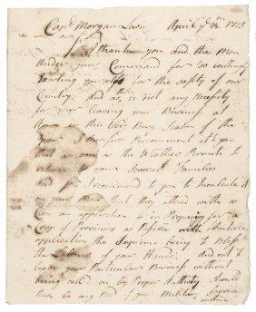 April 24th 1775 Als Of General Jonathan Moulton