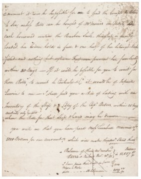 Revolutionary War Letter Signed By Daniel Parker