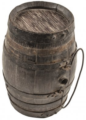 Revolutionary War Era Soldiers Wooden Canteen