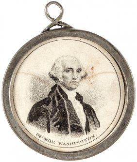 George Washington & Henry Clay Pewter Rim