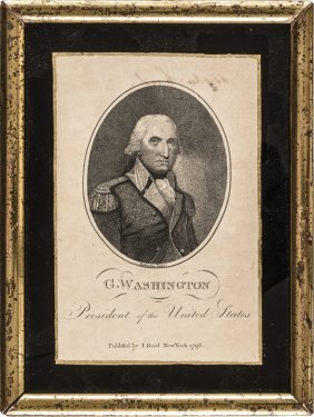 1796 George Washington Print While As President