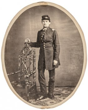 C 1860 Large Format Photograph Of A Union Army Officer