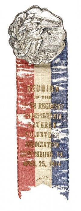 1914 50 Year Reunion Ribbon 5th Regt. Gettysburg