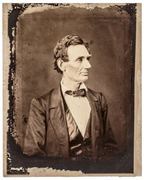 1881-dated Albumen Photograph Of Abraham Lincoln