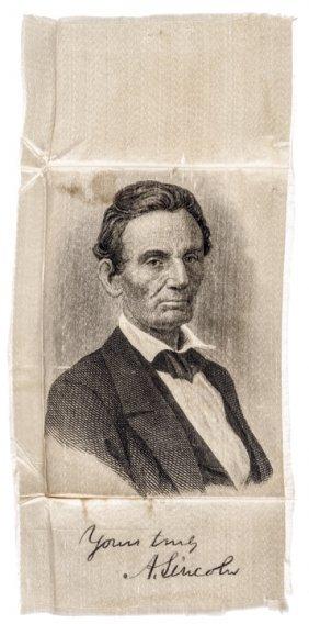 Abraham Lincoln Presidential Campaign Ribbon