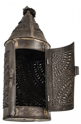 C. 1790s Punched Tin Paul Revere Style Lantern