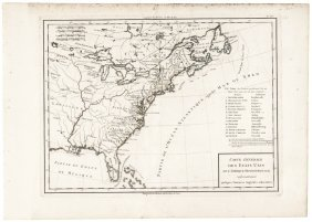 (1797) Map Of The Eastern United States + Canada