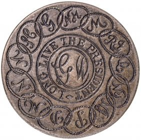 (1889) Centennial Gw Inaugural Button By Gaunt