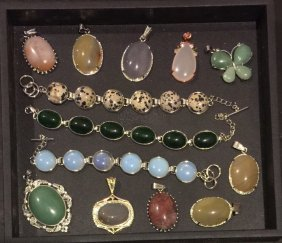Group Of Jewelry Pendants & Bracelets