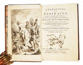 [ethics] Bruyere, Caratteri Di Teofrasto, 1758, 3 Vols