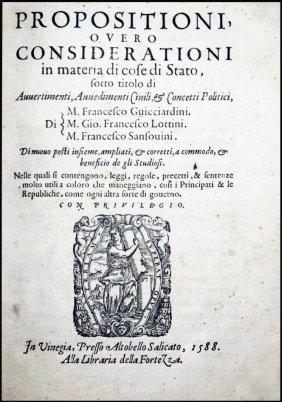 [politics] Guicciardini, 1588