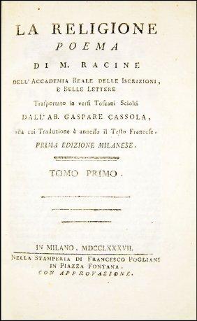 [poems] Racine, La Religione, Poema, 1787-88