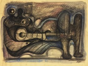 Henry Moore (british, 1898-1986) (attrib.)