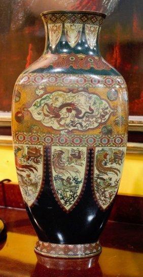 Meiji Japan Cloisonne-enamelled Vase
