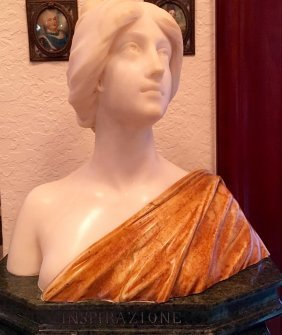 Carrara Marble Bust 19th Century