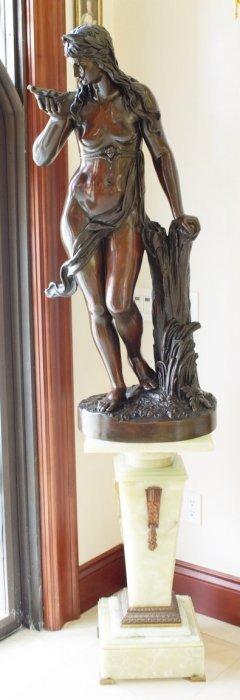Schneider Bronze And Copper Statue