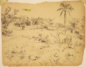Winslow Homer Graphite On Paper
