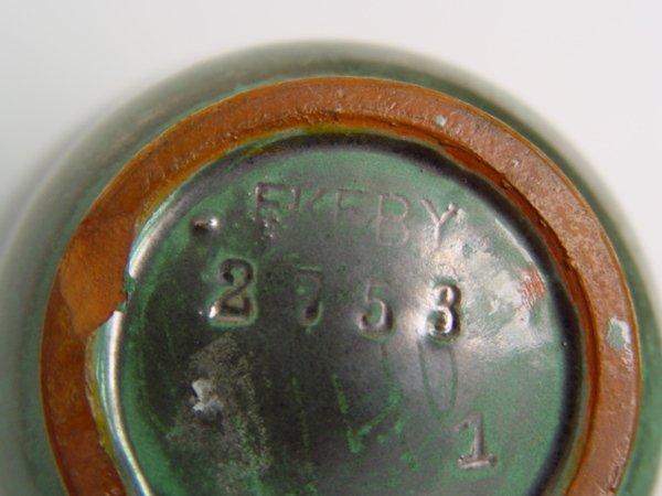 1129 2pc lot upsala ekeby swedish pottery lot 1129