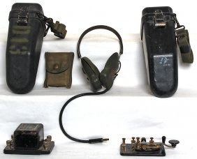 Lionel Military Phones, Headset, Telegraph, More