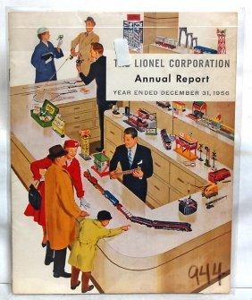 Tough Lionel Annual Report For 1956