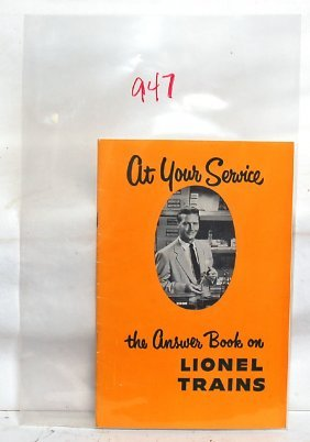 Tough Lionel 1953 At Your Service Booklet