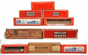 Ten Postwar Empty Lionel Boxes, 3519, 665, 746W