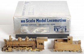 United Models Brass 2-8-2 Steam Locomotive