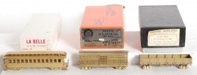 3 HOn3 D&RGW Brass Freight And Pass Cars