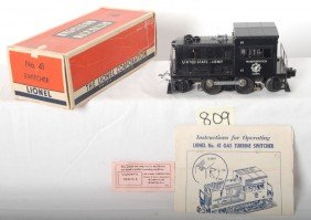 Lionel No. 41 Army Industrial Switcher In OB W/ins