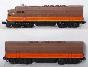 Lionel 2363 Illinois Central F3 A-B Diesel Locos