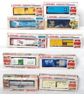 10 Lionel Freight Cars 9878, 9877, 9788, Etc