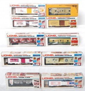 10 Lionel Freight Cars 9886, 9816, 5705, 6421, Etc
