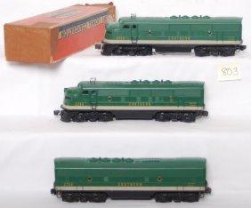 Lionel 2356 Southern A-B-A F3 Diesel Units W/one O
