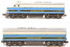 Lionel Postwar 2368 B&O F3 AB Diesel Units