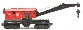 Lionel 6460-25 Crane Car W/Red Painted Cab