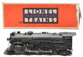Lionel Prewar 225 Black Steam Loco Boxed