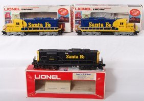 3 Lionel Santa Fe Diesel Locomotives 8250 8872 8873