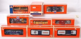 10 Lionel Freight Cars 21756, 26264, 17807, Etc.
